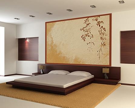 D co murale chambre coucher for Chambre a coucher decoration murale
