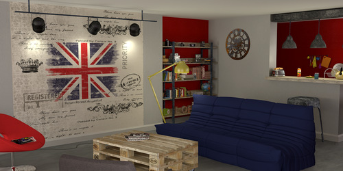 Decoration murale londres - Decoration london pour chambre ...
