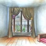 décoration rideau aimanté