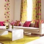 décoration rideau jaune