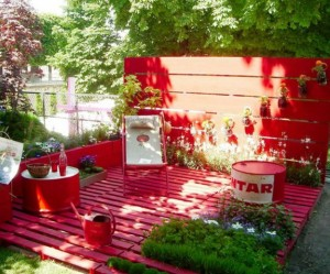 déco jardin avec palettes bois