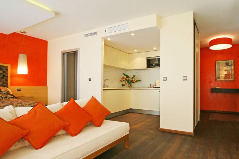 déco studio orange