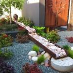 décoration jardin avec cailloux