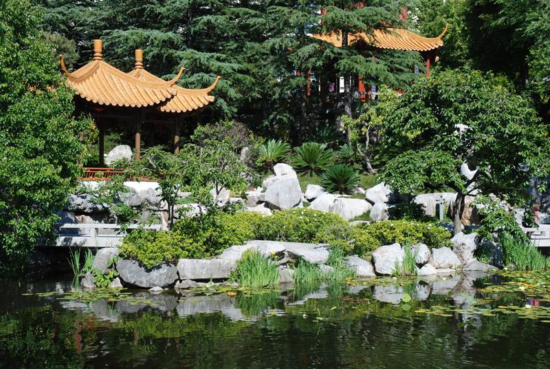 jolie décoration jardin chinois