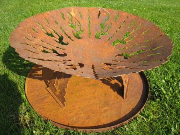 modèle décoration jardin fer rouille - Photo Déco