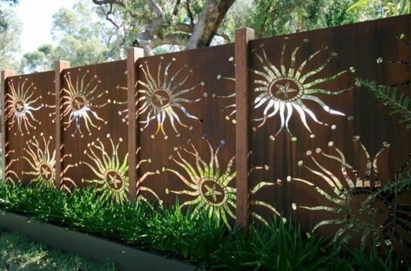 univers décoration jardin fer rouille