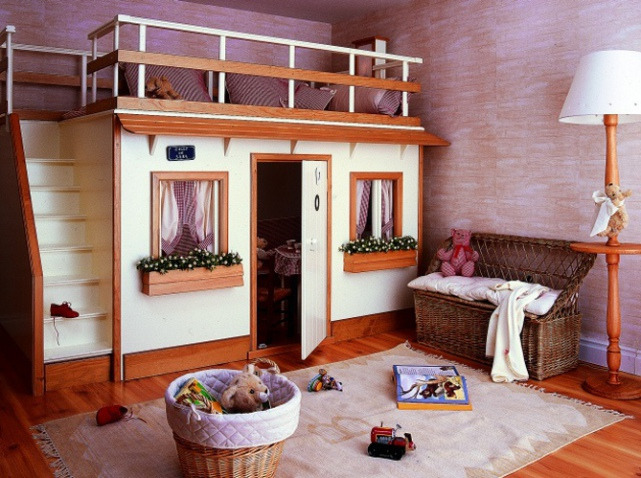 décoration maison lit mezzanine