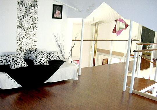décoration mur mezzanine