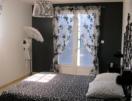 photo dcoration rideau blanc - Rideaux Pour Salon Noir Blanc