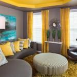 décoration rideaux gris