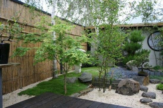 univers déco jardin avec bambou