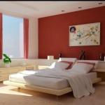 décoration rideaux rouges