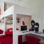 décoration studio mezzanine