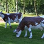 déco jardin vache