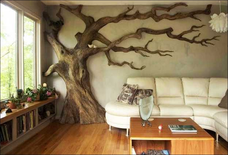 d co murale arbre. Black Bedroom Furniture Sets. Home Design Ideas