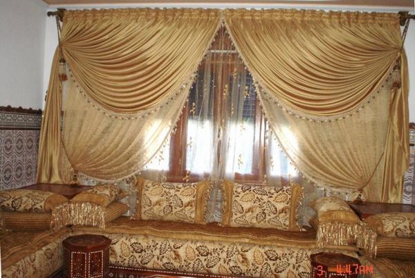 déco rideaux salon marocain