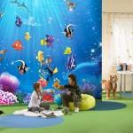 décoration rideau murale