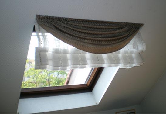 décoration rideaux pour velux