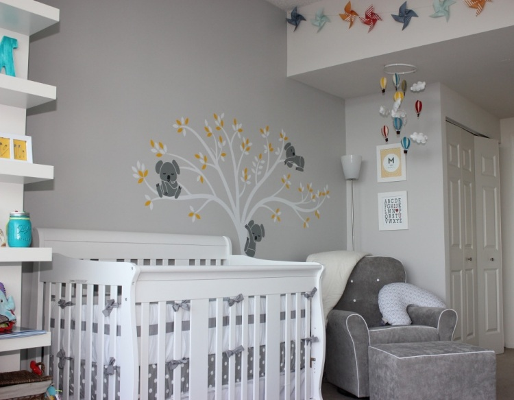 D co murale chambre b b for Decoration chambre bebe