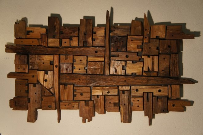 D co murale en bois flott for Decoration exterieur bois flotte