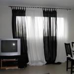déco rideau noir et blanc