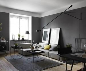déco studio blanc gris