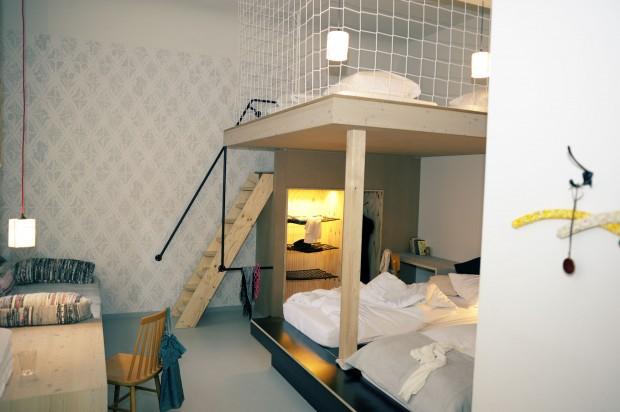 belle décoration chambre avec lit mezzanine - Photo Déco