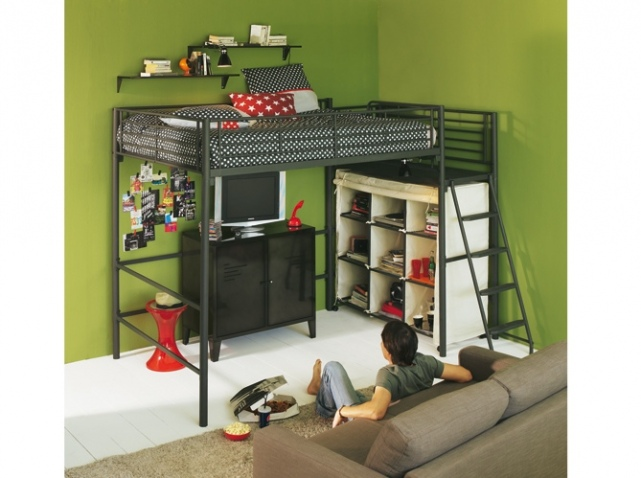 d coration chambre avec lit mezzanine. Black Bedroom Furniture Sets. Home Design Ideas