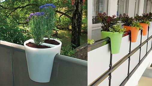 décoration jardinière balcon